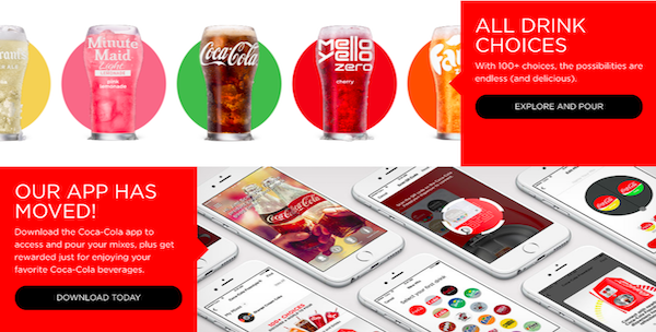 코카콜라 프리스타일(Coca Cola Freestyle) 음료 주문배달 앱 서비스는 신흥 배달 스타트업 기업들과 제휴하고 대학가, 도심 주거밀집지에 제공된다. Courtesy: Coca-Cola