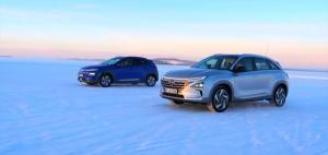 [영상] 현대車의 수소차 '넥쏘', 영하 35도 혹한기 주행 테스트